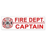 Fire Department Captain Bumper Sticker