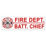 Fire Department Battalion Chief Bumper Sticker
