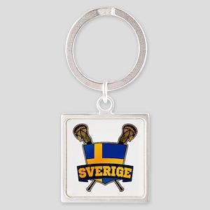Sweden Sverige Lacrosse Logo Keychains