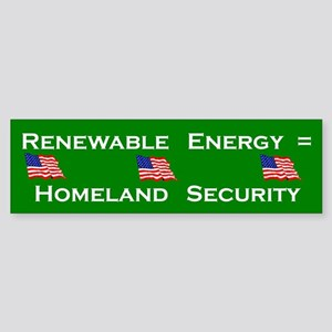 Renewable Energy Bumper Sticker