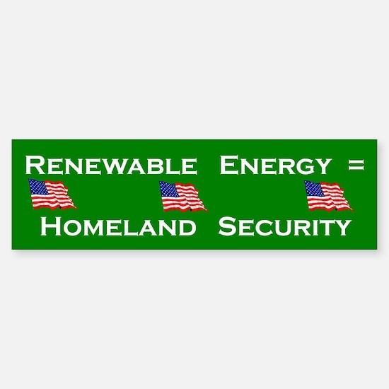 Renewable Energy Bumper Bumper Bumper Sticker