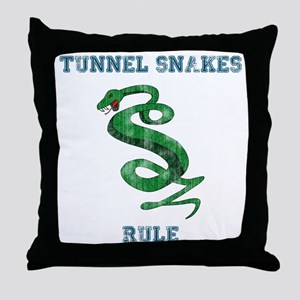 Tunnel Snakes Rule! Throw Pillow
