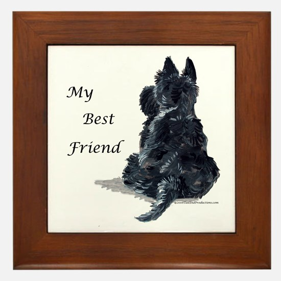 Scottish Terrier AKC Framed Tile