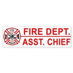 Fire Department Assistant Chief Bumper Sticker