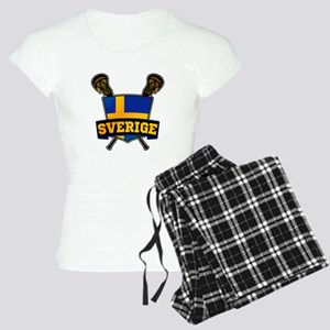 Sweden Sverige Lacrosse Logo Pajamas