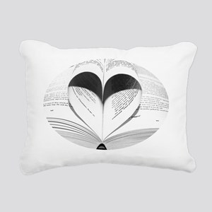 Cute Love of Books Rectangular Canvas Pillow