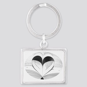 Cute Love of Books Landscape Keychain