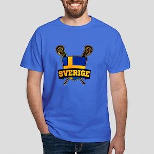 Sweden Sverige Lacrosse Logo T-Shirt