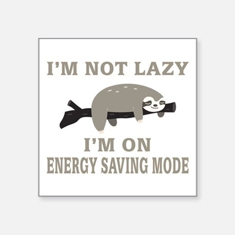 Sloth Energy Saving Mode Vinyl Sticker
