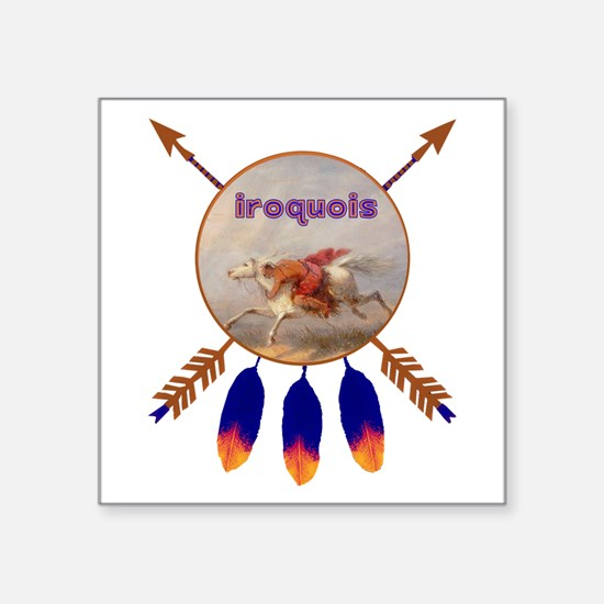 "Iroquois Square Sticker 3"" x 3"""
