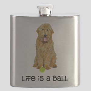 Goldendoodle Life Flask