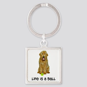 Goldendoodle Life Square Keychain