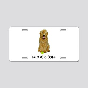 Goldendoodle Life Aluminum License Plate