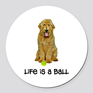 Goldendoodle Life Round Car Magnet