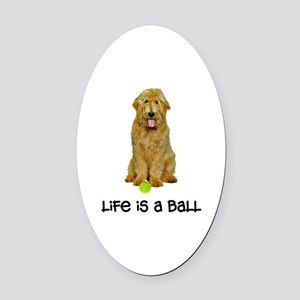 Goldendoodle Life Oval Car Magnet