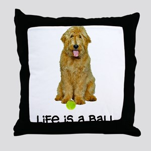Goldendoodle Life Throw Pillow