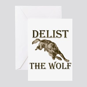 DELIST THE WOLF Greeting Cards (Pk of 10)