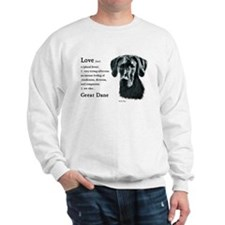 Black Great Dane Sweatshirt
