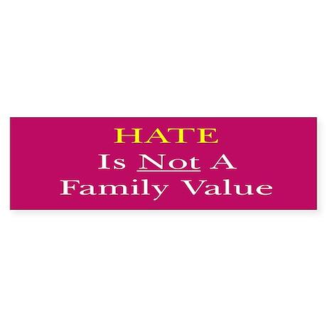 Hate Sticker (Bumper)