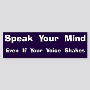 Voice Shakes Bumper Sticker