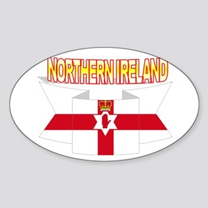 Ulster banner ribbon flag Oval Sticker