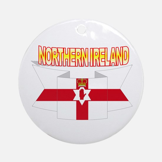 Ulster banner ribbon flag Ornament (Round)