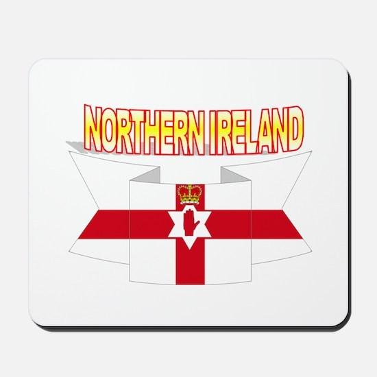 Ulster banner ribbon flag Mousepad