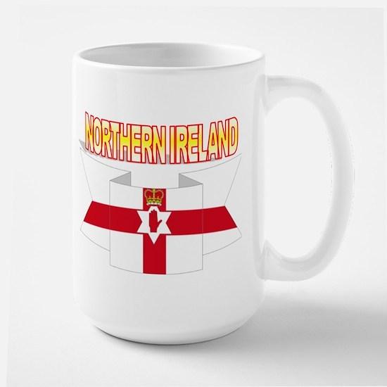 Ulster banner ribbon flag Large Mug