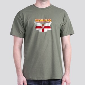 Ulster banner ribbon flag Dark T-Shirt