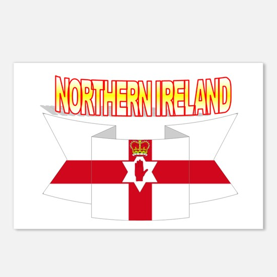 Ulster banner ribbon flag Postcards (Package of 8)