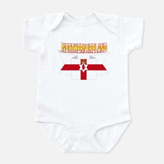 Ulster banner ribbon flag Infant Bodysuit