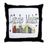 Candle Maker Throw Pillow
