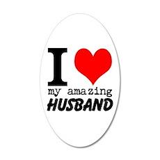 I heart my Amazing Husband Wall Decal