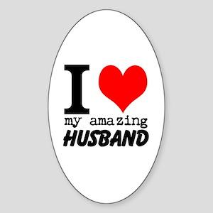 I heart my Amazing Husband Sticker (Oval)