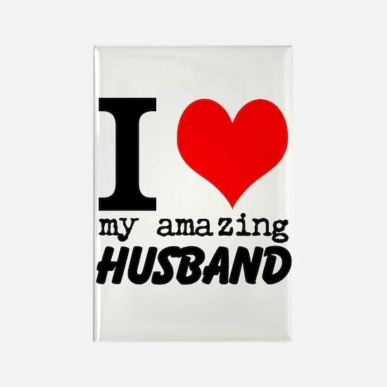 I heart my Amazing Husband Rectangle Magnet