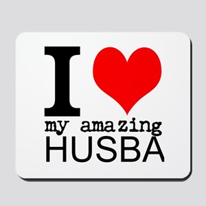 I heart my Amazing Husband Mousepad