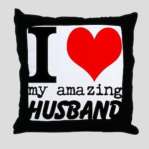 I heart my Amazing Husband Throw Pillow