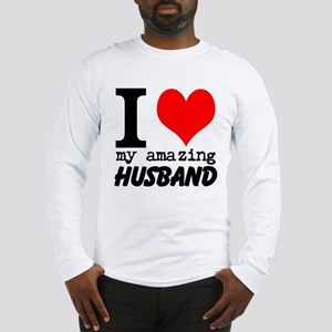 I heart my Amazing Husband Long Sleeve T-Shirt