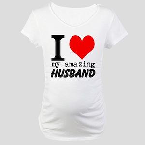 I heart my Amazing Husband Maternity T-Shirt