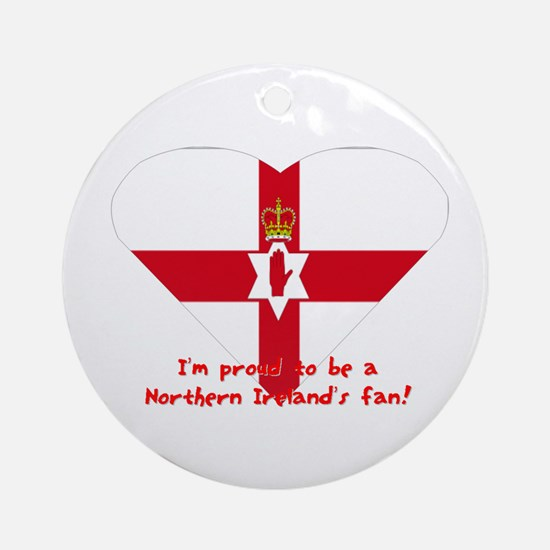 Red hand of Ulster pride flag Ornament (Round)