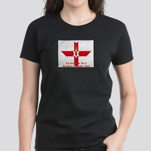 Red hand of Ulster pride flag Women's Dark T-Shirt