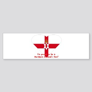 Red hand of Ulster pride flag Bumper Sticker