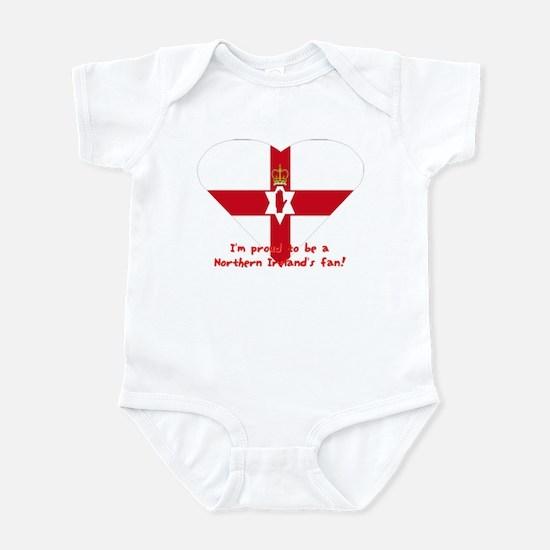 Red hand of Ulster pride flag Infant Bodysuit