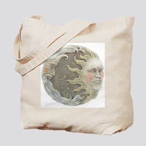 Cosmic Sun and Moon Tote Bag