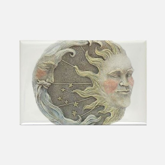 Cosmic Sun and Moon Rectangle Magnet