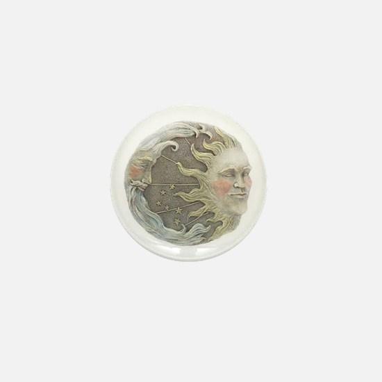 Cosmic Sun and Moon Mini Button