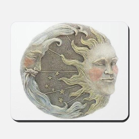 Cosmic Sun and Moon Mousepad