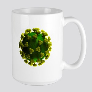 HIV particle, artwork Stainless Steel Travel Mugs