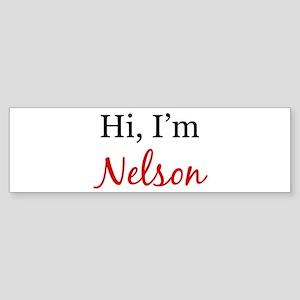 I am Nelson Bumper Sticker
