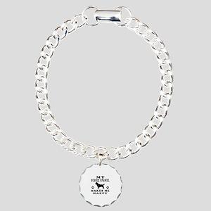 My Sussex Spaniel makes me happy Charm Bracelet, O
